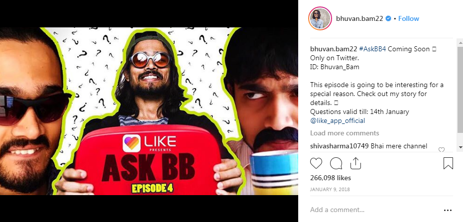 Bhuvan Bam Instagram Account